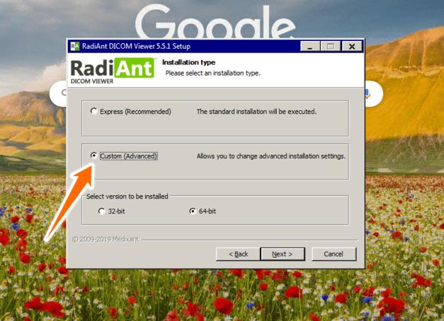 Radiant DICOM portable viewer installation instructions
